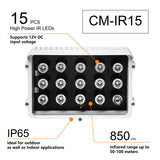 CMVision IR15 WideAngle 60-80 Degree 15pc Power LED IR Array Illuminator (3A UL Power Included)