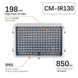 CMVision CM-IR130-850NM  198pc LEDS 300-400ft Long Range IR Illuminator (3A 12VDC Power Included)