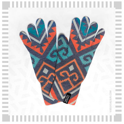 Guantes Touch Mapuche Azul