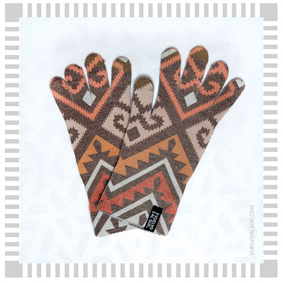 Guantes Touch Mapuche Rojo