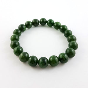 Jade Bracelet - 10mm Bead - The Jade Store