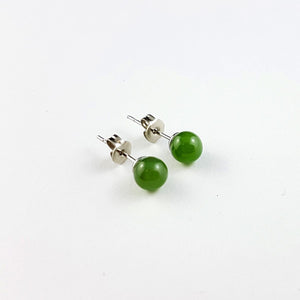 Jade Earrings - 6mm Bead - The Jade Store