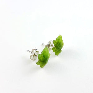 Jade Earrings - Maple Leaf Small - The Jade Store