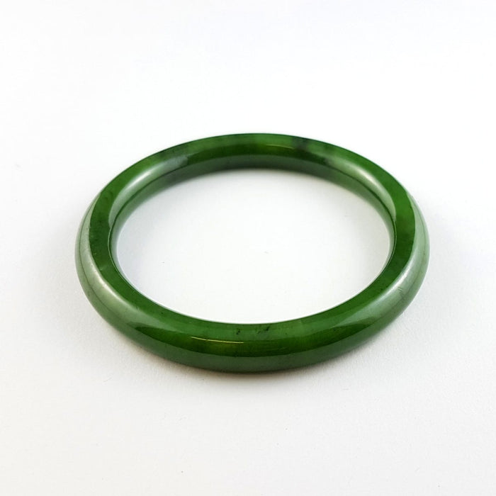 Jade Bangle - Narrow Rounded