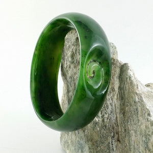 Jade Bangle - Koru - The Jade Store