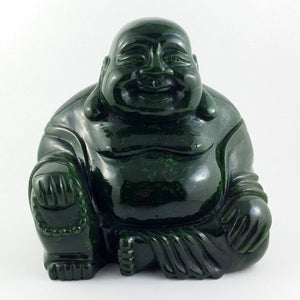 "Jade Buddha Happy 6"" - The Jade Store"