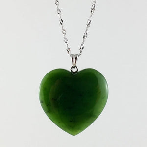 Jade Pendant - Big Heart - The Jade Store