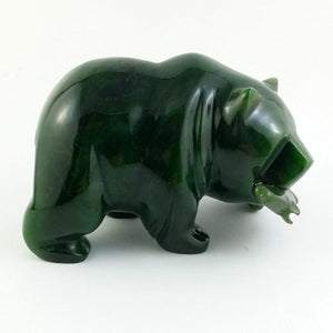 "Jade Bear 4"" with Jade Fish - The Jade Store"