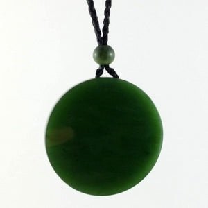 Jade Pendant - Disk 40mm - The Jade Store