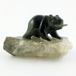 "Jade Bear on Quartz 1.5"" - The Jade Store"