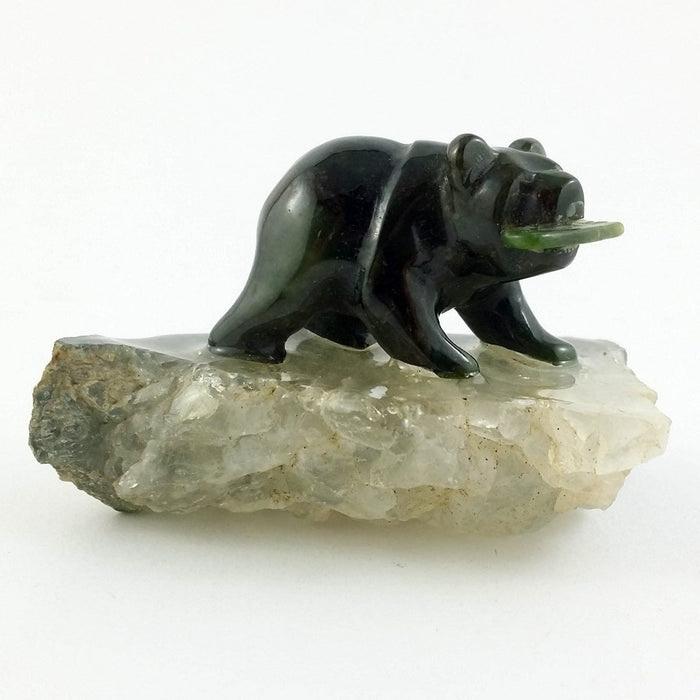 Jade Bear on Quartz 1.5""