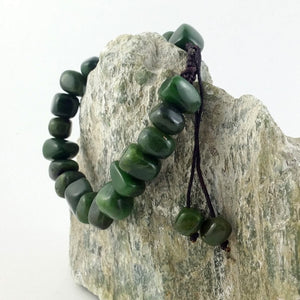 Jade Bracelet - Macrame with Niblet Bead - The Jade Store