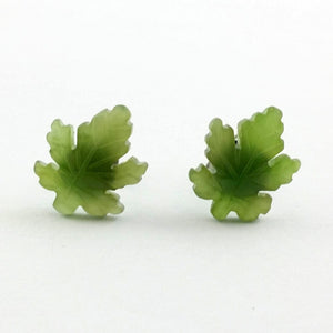 Jade Earrings - Maple Leaf Earrings - The Jade Store