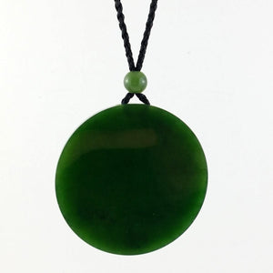 Jade Pendant - Disk 50mm - The Jade Store