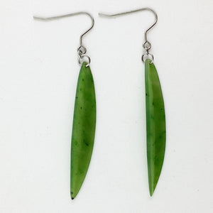 Jade Earrings - Long Leaf Earrings - The Jade Store