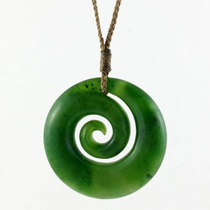 Jade Koru Pendant 35mm - The Jade Store