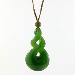 Jade Pendant Double Twist Large - The Jade Store