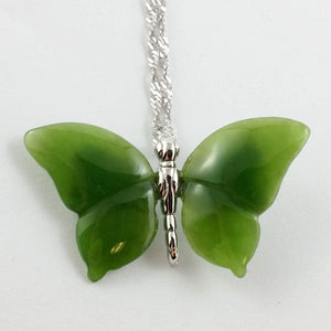 Jade Pendant - Butterfly Silver - The Jade Store