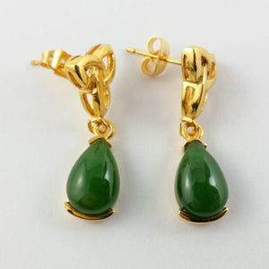 Jade Earrings - Celtic Trinity Knot - The Jade Store