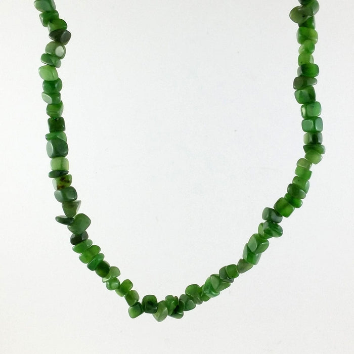 Jade Necklace - Natural Jade Chip Necklace