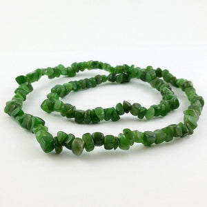 Jade Necklace - Natural Jade Chip Necklace - The Jade Store