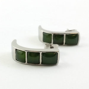 Jade Earrings - Half Hoop Earrings - The Jade Store