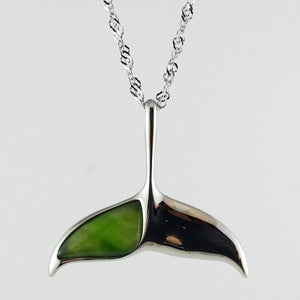 Jade Pendant - Whale Tail in Stainless Steel - The Jade Store