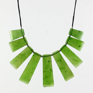 Jade Necklace - Nine Piece Necklace on Cord - The Jade Store