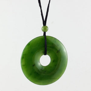 Jade Pendant - Pi on Cord 35mm - The Jade Store