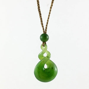 Jade Pendant Double Twist Small - The Jade Store