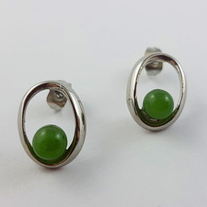 Jade Earrings - Oval Nested - The Jade Store