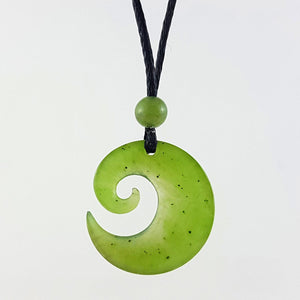 Jade Pendant - Koru 20mm - The Jade Store