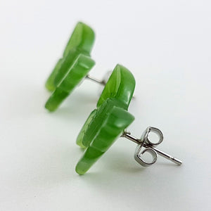 Jade Earrings - Butterfly Studs - The Jade Store