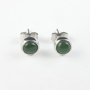 Jade Earrings - 5mm Round Studs - The Jade Store