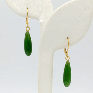 Jade Earrings - Drop Classic - The Jade Store