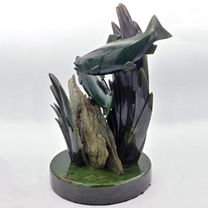 Jade Carving - Salmon & Kelp - The Jade Store