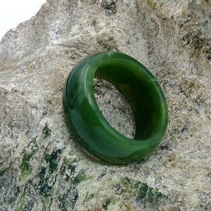 Jade Ring - Solid 10mm Wide Band - The Jade Store