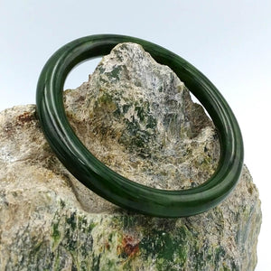 Jade Bangle - Narrow Rounded - The Jade Store