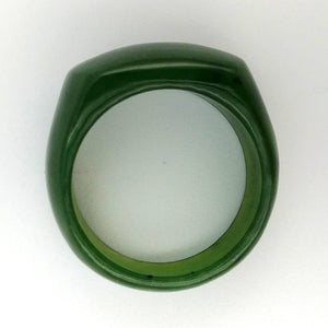 Jade Ring - Solid Saddle Band - The Jade Store