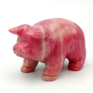 Rhodonite Pig - The Jade Store