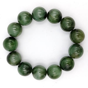 Jade Bracelet - 17mm Bead Cat's Eye - The Jade Store