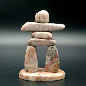 "Rhodonite Inuksuk 3.5"" - The Jade Store"