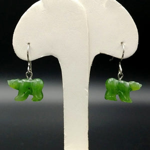 Jade Earrings - Bears - The Jade Store