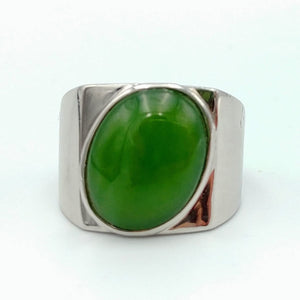 Jade Ring – Oval in Silver - The Jade Store