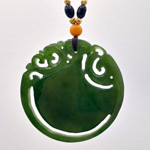 Jade Pendant Round Flower - The Jade Store