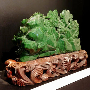 Jade Double Dragon Carving - The Jade Store