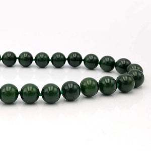 Jade Necklace - AA 10mm Beads - The Jade Store