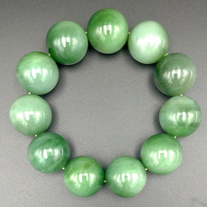 Jade Bracelet - 19mm Bead Cat's Eye - The Jade Store