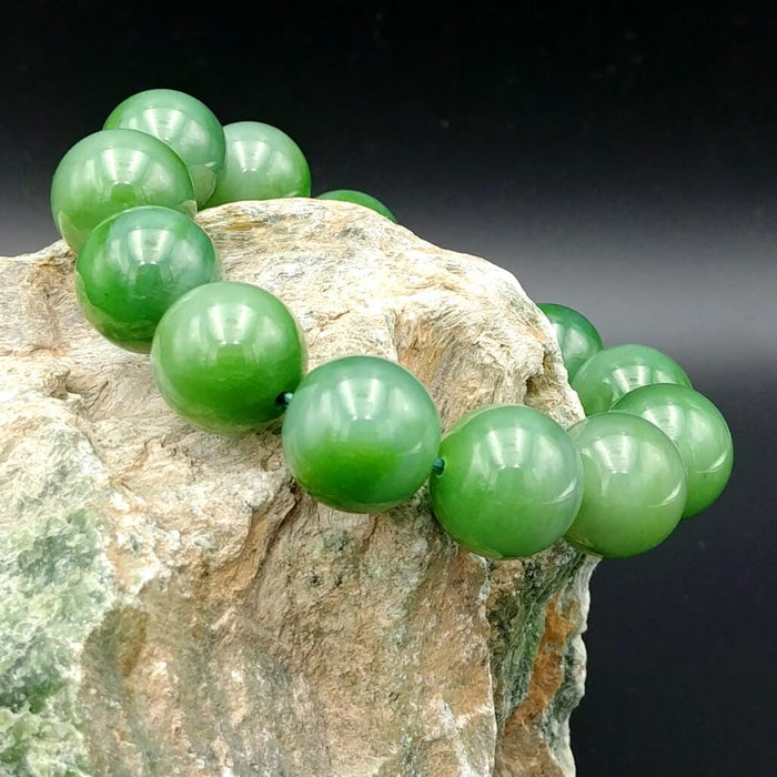 Jade Bracelet - 16mm Bead Cat's Eye