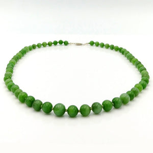 Jade Necklace - Graduated Beads Cat's Eye - The Jade Store
